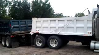 Dump truck stuck