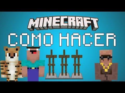 ★ Como Hacer Soportes Para Armaduras En Minecraft 1.8 - Tutorial Gracioso