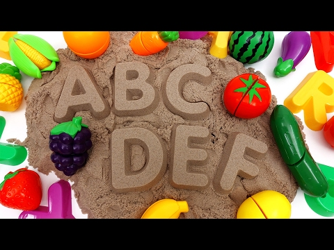 Thumbnail: Learn Names of Fruits and Vegetables with Kinetic Sand~ Do You Know Them All?