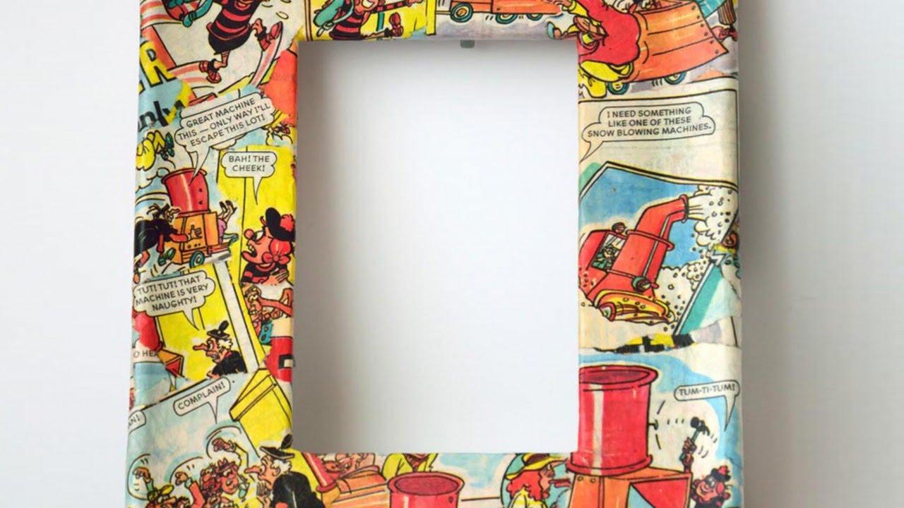 How To Create Cool Comic Book Decoupage Frames - DIY Home Tutorial ...
