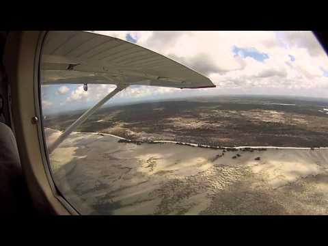 Aerial tour of the future site of Anadarko's Palma Afungi LNG plant in Northern Mozambique