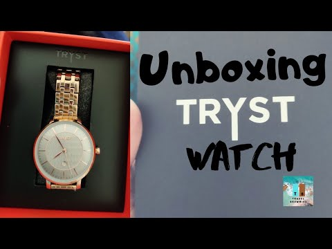 Unboxing of Tryst watch manufactured and serviced by Fossil
