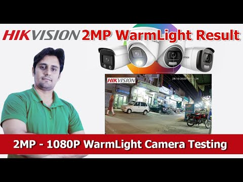 Hikvision 2MP 1080P ColorVu Warm Light Camera Video Result & Test Hindi/Urdu
