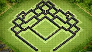 Clash of Clans - Best Town Hall 9 Southern Teaser Trophy Base (Hephaestus) Speed Build
