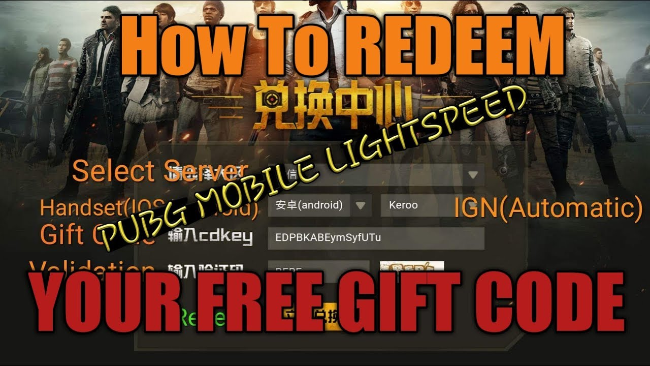 PUBG Mobile - How to Redeem your free Gift code (Android/IOS) ft  PeeNoise  Caster