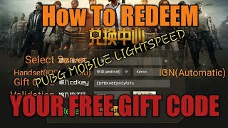 PUBG Mobile - How to Redeem your free Gift code (Android/IOS) ft. PeeNoise Caster