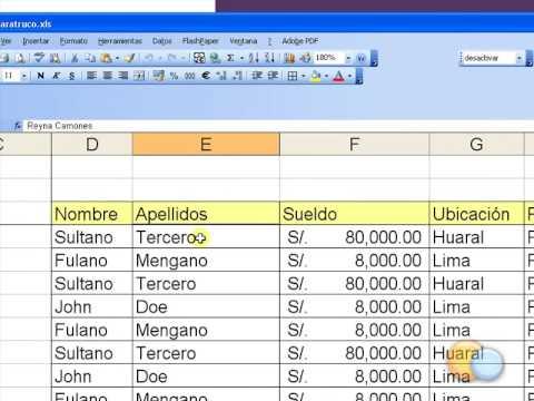 Truco Excel Inmovilizar Paneles