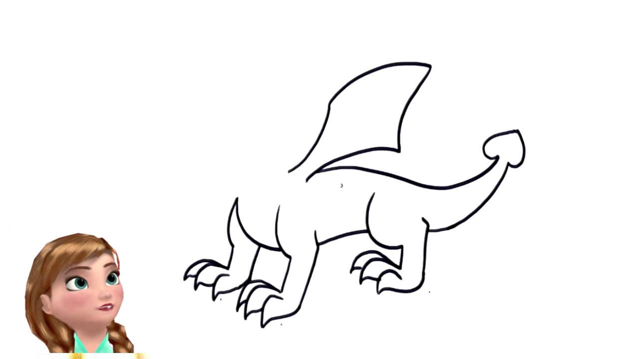 Kids Songs How To Draw A Dragon By Anna Frozen How To Draw Youtube