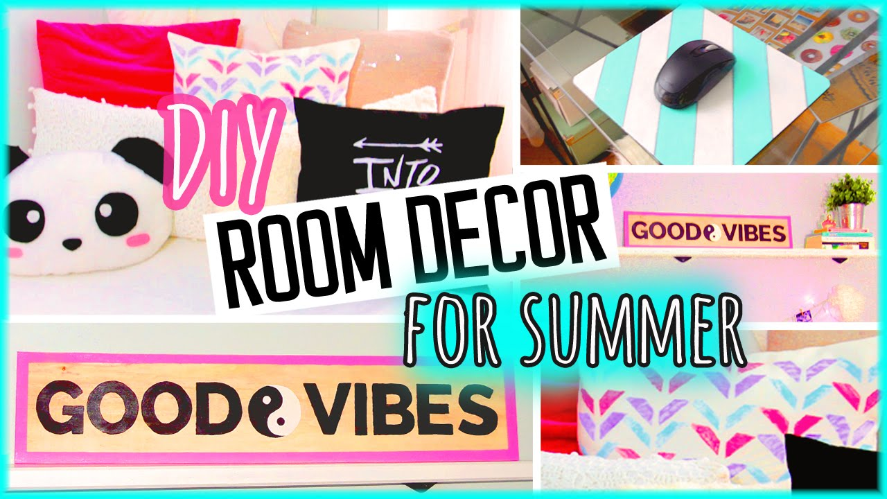 Diy Room Decor For Summer Colorful Ideas To Spice Up Your Room Youtube
