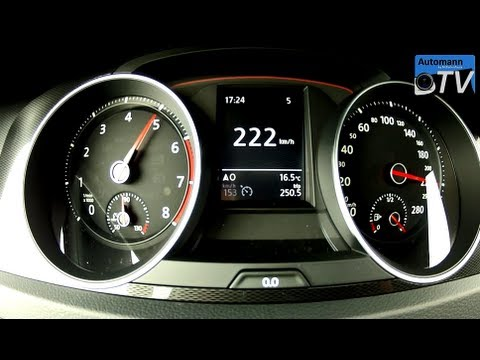 2014 vw golf 7 gti 220hp dsg 0 220 km h acceleration for Interieur sport golf