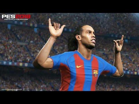| PES 2018 - The Legend Ronaldinho Goals & Skills HD |