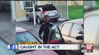 Owner snaps photo of suspect breaking into cars