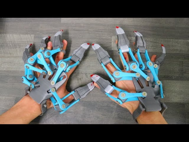 AWESOME 3D PRINTED EXOSKELETON HANDS!!!