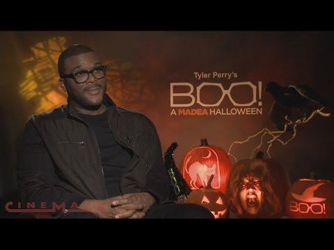 Cinemark Interviews Tyler Perry for Boo! A Madea Halloween