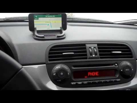 How to get GPS directions to come through your speakers in a Fiat 500