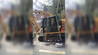Whiskey Row Epic Failure!  How NOT to lift a CAT 313F excavator/backhoe!