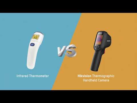 ハンディ型サーモグラフィカメラ 赤外線温度計との比較