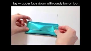 How To Foil Wrap A Hersheys Candy Bar And Wrap With Personalized Wrapper