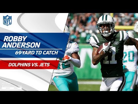 Robby Anderson's 69-Yard TD Catch vs. Miami! | Dolphins vs. Jets | NFL Wk 3