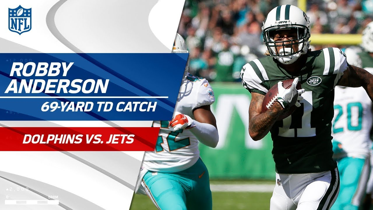 a88626f7bee Robby Anderson's 69-Yard TD Catch vs. Miami! | Dolphins vs. Jets | NFL Wk 3