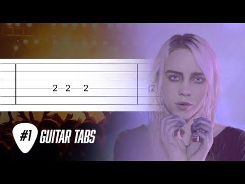 "Billie Eilish - ""Ocean Eyes"" (Guitar Tab tutorial)"