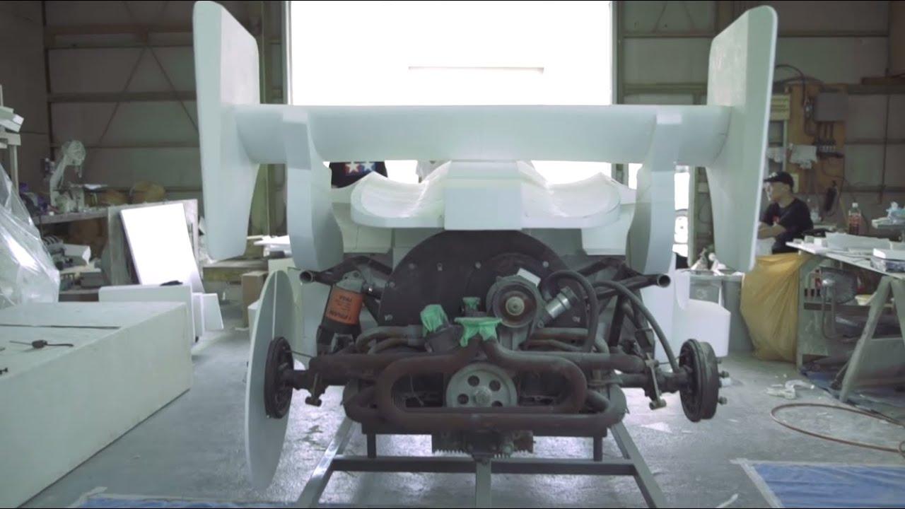 """画像: #03 ボディ原型篇 """"Prototype of body"""" 1/1 ミニ四駆実車化プロジェクト www.youtube.com"""