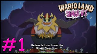 Wario Land Shake it ! 100% Walkthrough Part 1 Inro + 1st level