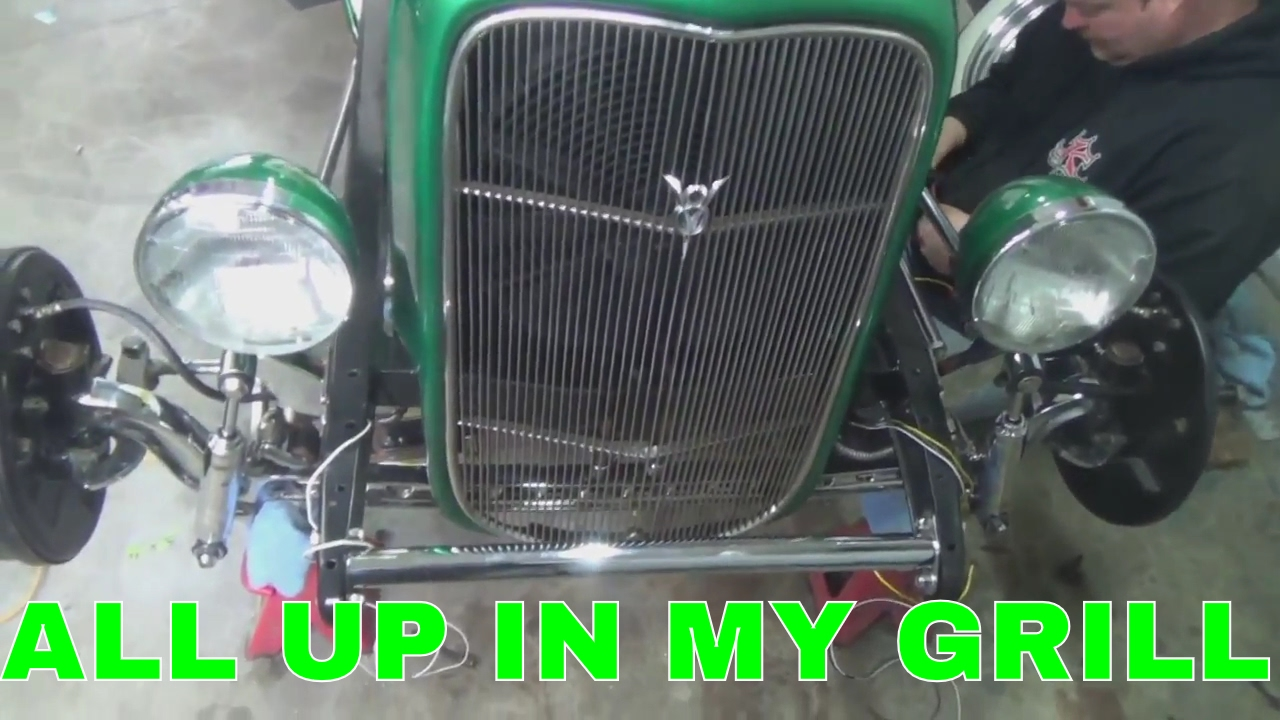 1931 Model A Hot Rod Mounting 32 Radiator And Grill Shell