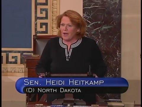 Heitkamp, Heinrich Discuss Deal to Export Oil on Floor of U.S. Senate