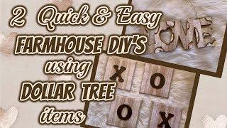2 QUICK & EASY FARMHOUSE DIY's using items from DOLLAR TREE