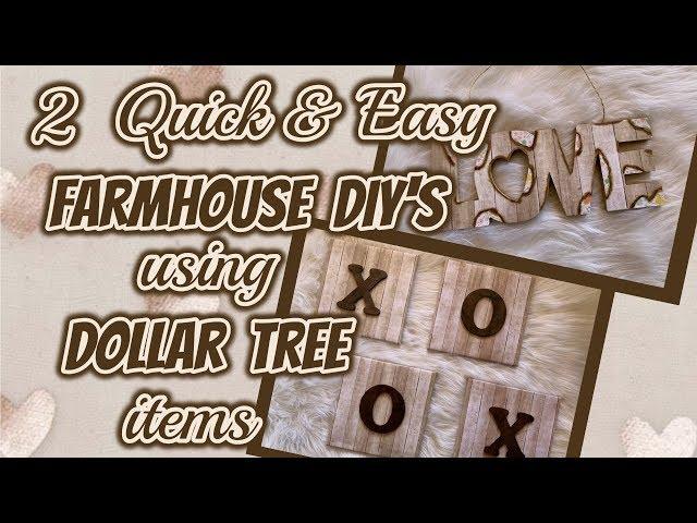 2 QUICK & EASY FARMHOUSE DIYs using items from DOLLAR TREE