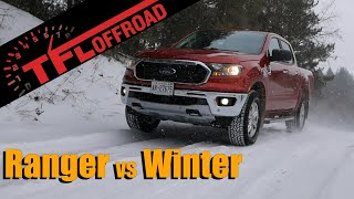 We Take the 2019 Ford Ranger on a Snowy Off-Road Trail Ride