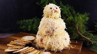 Katie Lees Snowman Cheeseball