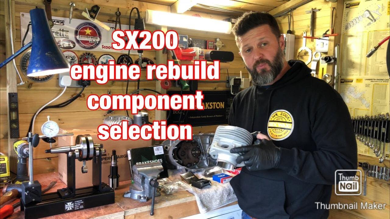 BGM225 Lambretta SX200 Scooter - engine build component selection - restoration and repair.