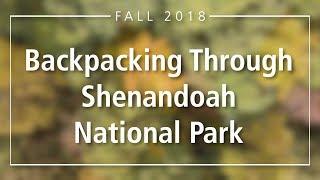 Shenandoah National Park Backpacking Through Hike