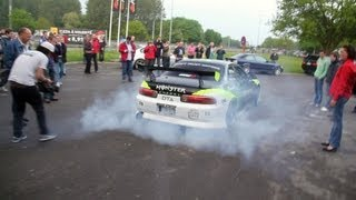 Gumball 3000 - Team Monster Energy BURNOUT !!