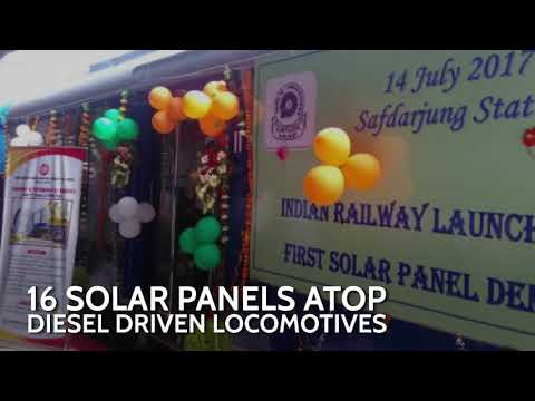 Solar panels now atop Indian trains