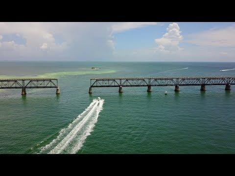 Amazing Aerial Drone Footage of Bahia Honda State Park   FLORIDA KEYS   4K