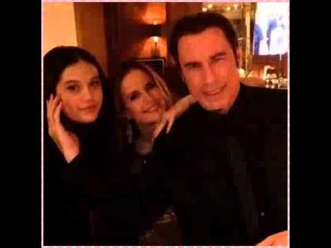 Ella Bleu Travolta Kelly Preston and John Travolta