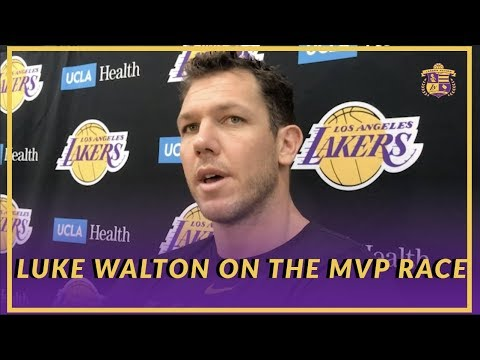 Lakers Interview: Luke Walton Talked About the MVP Race Between Giannis and Harden