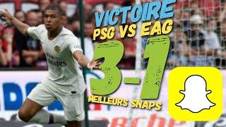 Guingamp PSG 1-3 ambiance du stade Roudourou snaps doublé Mbappé