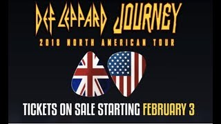 Journey and Def Leppard 2018 North American tour dates released!