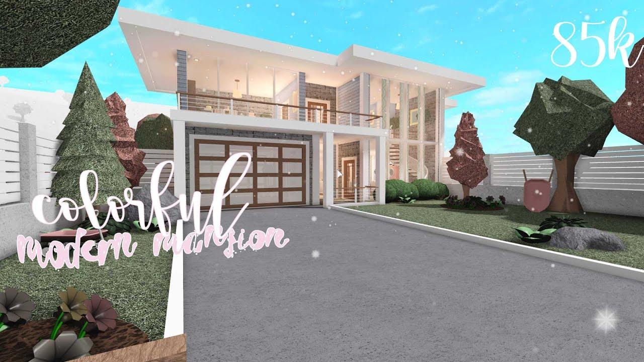 Bloxburg Colorful Modern Mansion Two Story 85k Stargirl Youtube