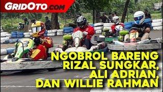 Begini Kesan-kesan Pebalap Rizal Sungkar, Ali Adrian, dan Willie Rahman Setelah Main Gokart Bareng