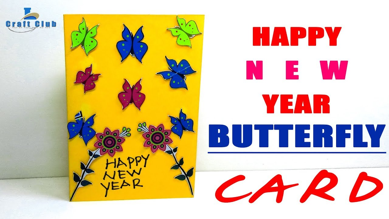 Happy New Year Greeting Card   Handmade Greeting Cards for ...