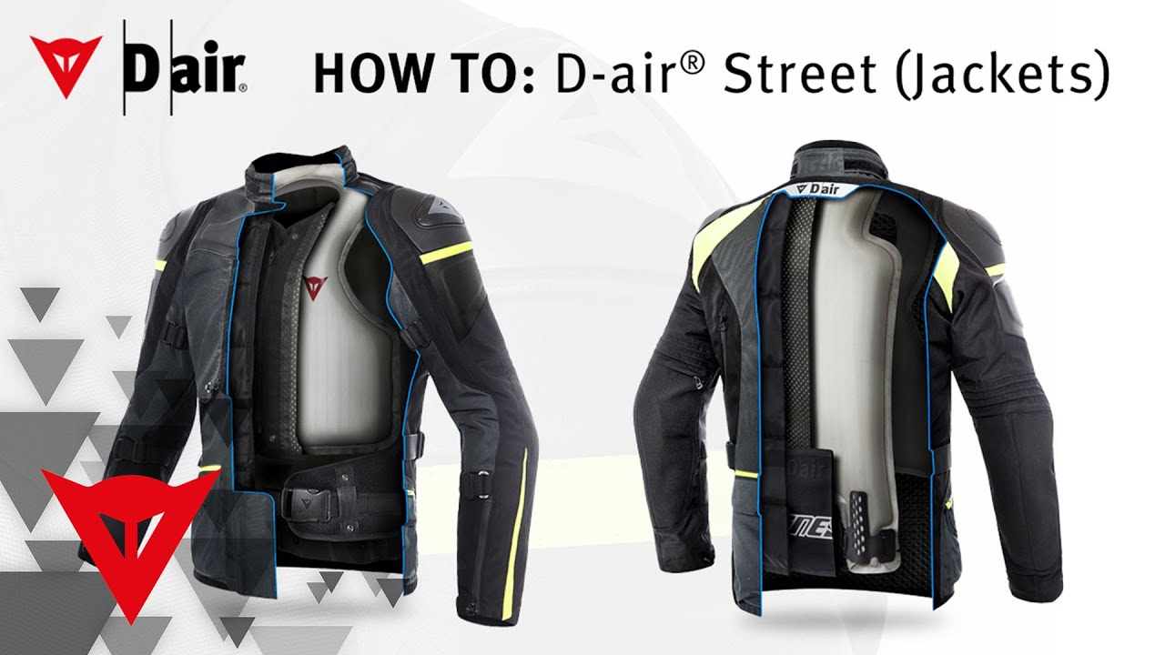 dainese how to d air street jackets youtube. Black Bedroom Furniture Sets. Home Design Ideas