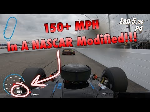150+ MPH In A NASCAR Modified at New Hampshire Motor Speedway!