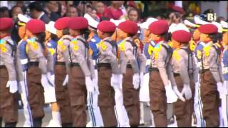 Parade polisi cilik di istana negara / Indonesia young police parade MP3