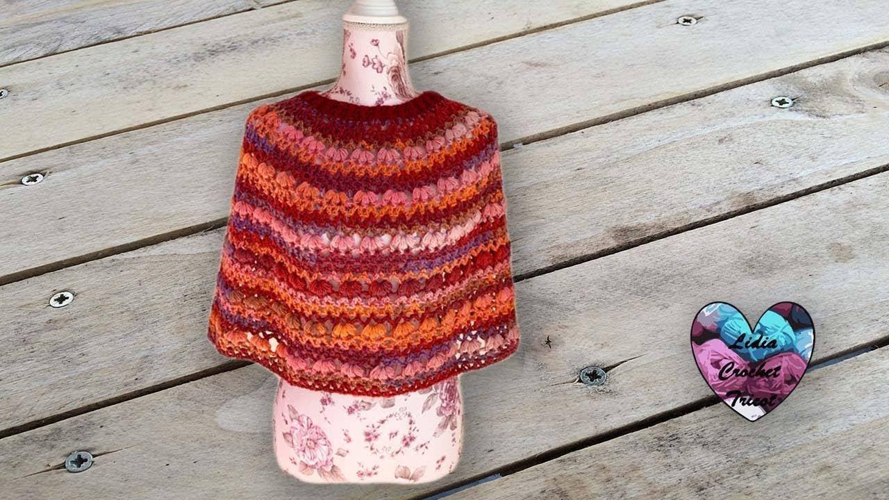 "Cape Margarette crochet ""Lidia Crochet Tricot"" - YouTube"