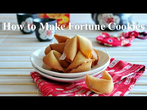 How to Make Fortune Cookies -  The Best Fortune Cookies that you'll ever taste!